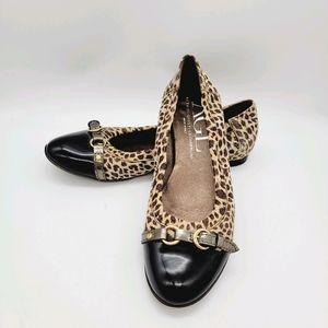 AGL size 37.5 leopard flats